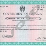 Government of Jamaica Treasury bill sample