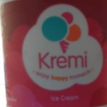Kremi ice cream container