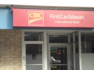 FirstCaribbean International Bank jumped 44 cents to close at a 52 weeks' high of $6