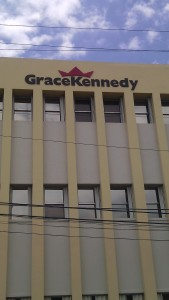 Grace Kennedy jumped $6.14 to close at a 52 weeks' high of $124.99 on Monday .